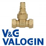V&G Compression 15 mm Lockshield Gate Valve