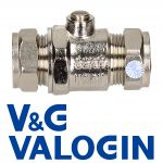 V&G Compression 22 mm Chrome Full Bore Isolation Valve