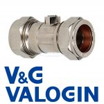 V&G Compression 22 mm Chrome Isolation Valve