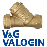 V&G Compression 22 mm Brass Y-Filter
