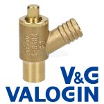 V&G Type A 15 mm Plain Shank Drain Off Valve