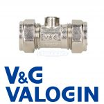V&G Compression 15mm Chrome Isolation Valve