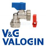"V&G Chrome 15 mm X 3/4"" Angled Washing Machine Valve"