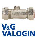 "V&G Compression 15 mm X 1/2"" Straight Chrome Service Valve"