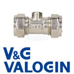 V&G Compression 15 mm Chrome Isolation Valve