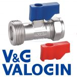 "V&G Chrome 15 mm X 3/4"" Straight Washing Machine Valve"