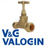V&G 20 mm X 15 mm Compression Stopcock (Poly x Copper)